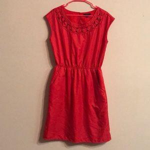 🔴Beautiful Red Banana Republic Dress with Pockets